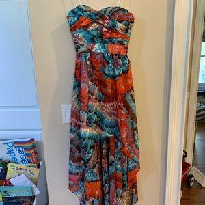 Aidan Mattox High-low floral dress